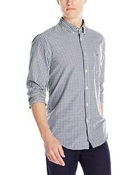 Lacoste Long Sleeve Poplin Gingham Regular Fit Button Down Woven Shirt