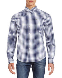 Lacoste Long Sleeve Gingham Check Sportshirt