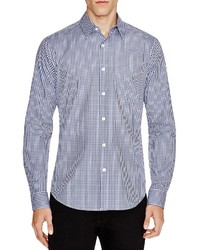 Theory Sylvain Amicable Gingham Slim Fit Button Down Shirt