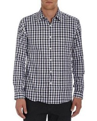 Barneys New York Woven Gingham Long Sleeve Shirt