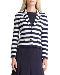 Tory Burch Augusta Striped Knit Blazer