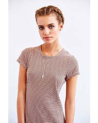 c92b221517 Bycorpus Stripe T Shirt Dress. White and Navy Horizontal Striped Bodycon  Dress by Urban Outfitters