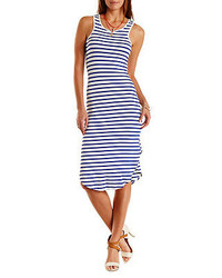 Charlotte Russe Striped Dolphin Hem Midi Dress