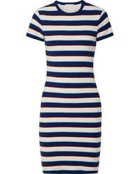 James Perse Striped Cotton Jersey T Shirt Dress