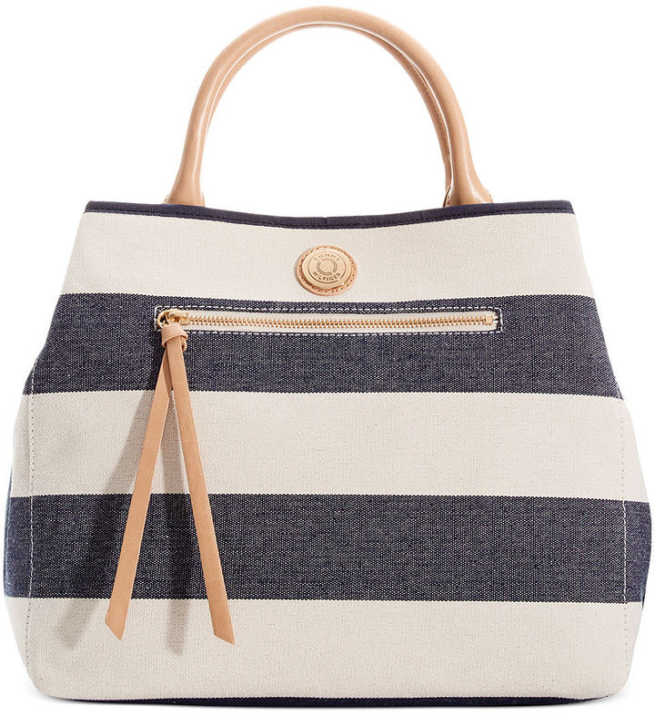 2ca7f8310dc Tommy Hilfiger Rugby Striped Shopper, $128   Macy's   Lookastic.com