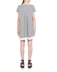b84bc20e6c6 ... White and Navy Horizontal Striped Casual Dresses Sacai Luck Striped  Jersey Dress Sacai Luck Striped Jersey Dress