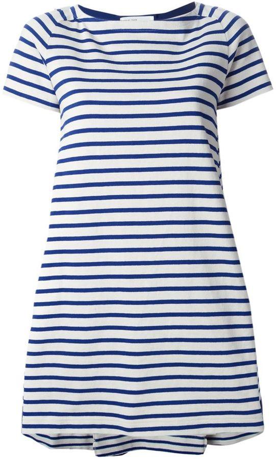 ... Sacai Luck Striped T Shirt Dress