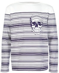 Alexander McQueen Striped Skull Sweater