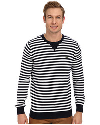 Lacoste Bridge Cotton Crew Neck Sweater W Stripe Detail