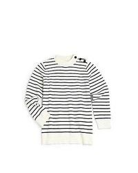Burberry Boys Striped Cashmere Blend Sweater Navy White