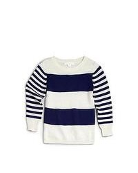 Burberry Boys Striped Sweater Navy Whie Stripe