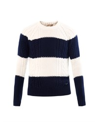 Burberry Brit Seddon Cable Knit Striped Sweater