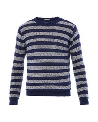 GANT RUGGER Striped Crew Neck Sweater