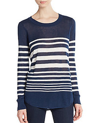 Highland striped long sleeve tee medium 326534
