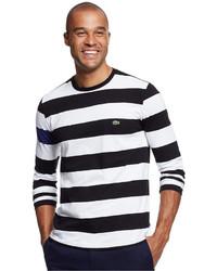 Lacoste Colorblocked Stripe Long Sleeve T Shirt