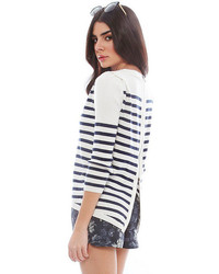 Singer22 Pam And Gela Striped Pullover With Tuck