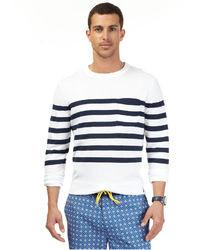 Nautica Pocket Stripe Crewneck Sweater