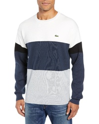 Lacoste Regular Fit Colorblock Cotton Sweater