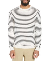 Vince Stripe Crewneck Wool Cashmere Sweater