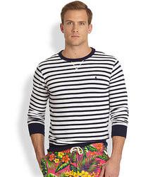 Polo Ralph Lauren Striped Atlantic Terry Crewneck Pullover