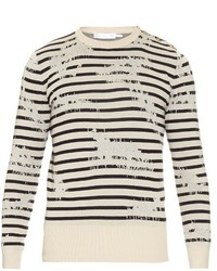 Alexander McQueen Striped Cotton Blend Sweater