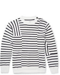 Sacai Striped Cotton Sweater