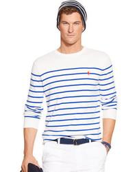Polo Ralph Lauren Striped Pima Crewneck Sweater