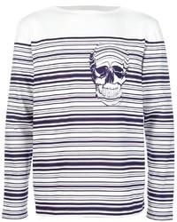 Striped skull sweater medium 10930