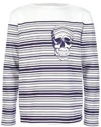 Alexander McQueen Striped Skull Sweater
