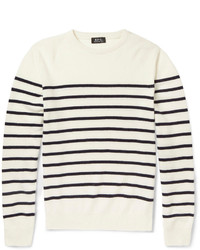 A.P.C. Striped Wool And Cashmere Sweater