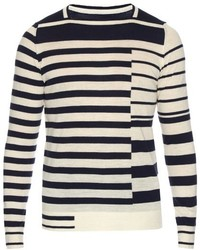 Maison Margiela Striped Wool Knit Sweater