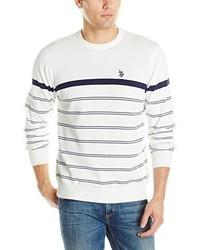 U.S. Polo Assn. Engineered Stripe Crew Neck Sweater