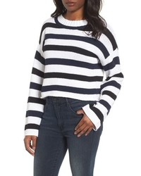 Wide stripe crop sweater medium 8679333
