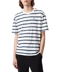 AllSaints Bamford Stripe Crewneck T Shirt
