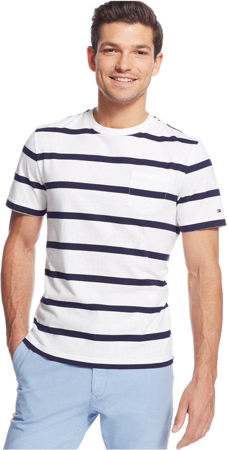 320ea25165 Tommy Hilfiger Bowen Pocket Crew Neck T Shirt, $34 | Macy's ...