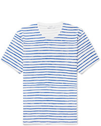 Enlist striped cotton jersey t shirt medium 6843243
