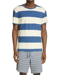 RRL Indigo Stripe Pocket T Shirt