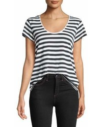 Rag & Bone Jean Laila Striped Scoop Neck Tee