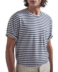 Nn07 Kurt 3461 Stripe Pocket T Shirt