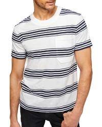 7 For All Mankind Modern Stripe Crewneck T Shirt