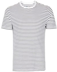 Topman Navy And White Stripe T Shirt