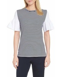 Nordstrom Nordstrom Signature Contrast Sleeve Stripe Tee