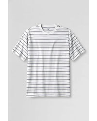 Lands' End Pattern Crewneck Super T