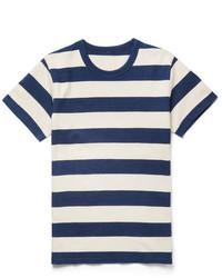 Slim fit striped cotton jersey t shirt medium 6843239