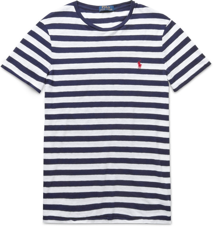 7b4147785765aa Polo Ralph Lauren Slim Fit Striped Cotton Jersey T Shirt, $65 | MR ...