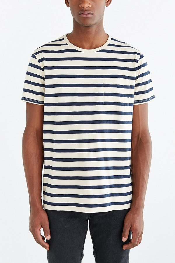 f86329e4 BDG Standard Fit Nautical Stripe Pocket Tee, $20 | Urban Outfitters ...