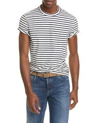 Brunello Cucinelli Stripe Cotton Crewneck T Shirt