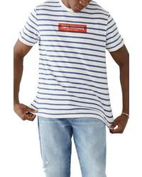 True Religion Brand Jeans Stripe Logo T Shirt