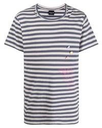 COOL T.M Stripe Print Cotton T Shirt