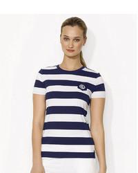 Lauren Ralph Lauren Striped Crewneck Pocket T Shirt